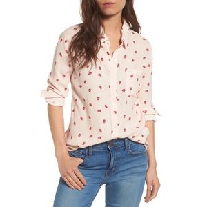 Rails Strawberry Button Up Top Size XS